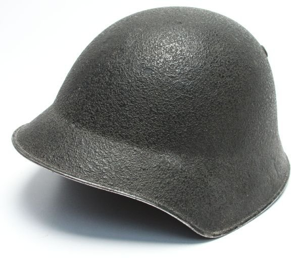 WWII SWISS ARMY HELMET WITH LINER & CHIN STRAP