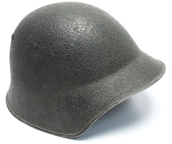 WWII SWISS ARMY HELMET WITH LINER & CHIN STRAP - 2