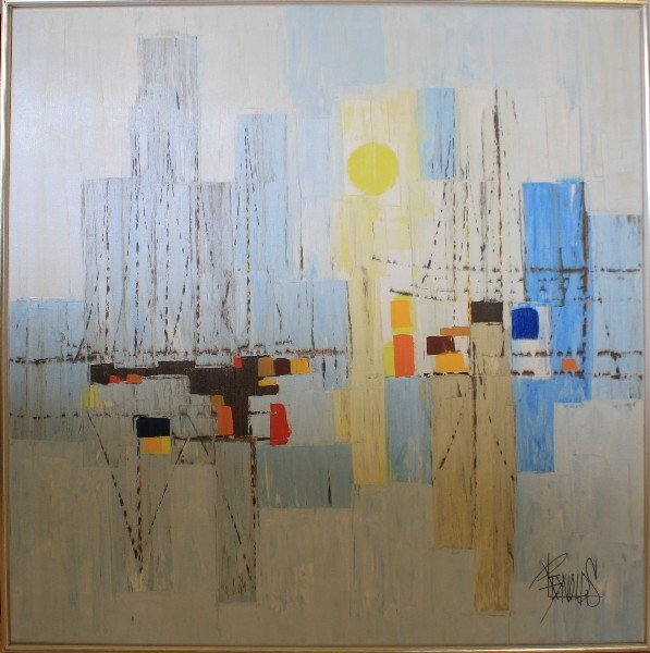 REYNOLDS MID-CENTURY ABSTRACT PAINTING