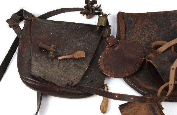 CIVIL WAR HAVERSACK POWDER BAG LOT OF 3 - 2