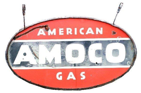 VINTAGE 1940S AMOCO GAS FILLING STATION SIGN