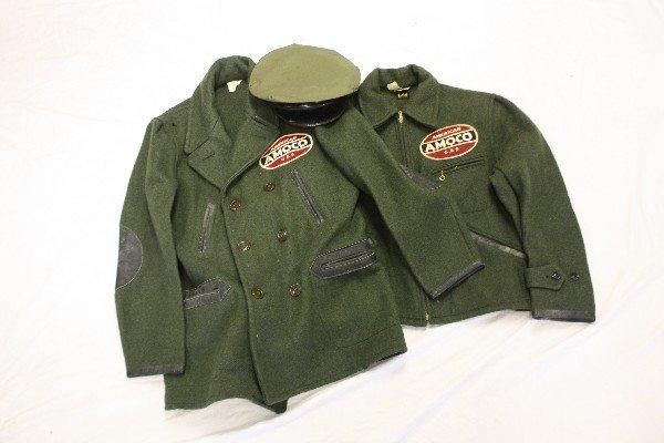 1950'S AMOCO ATTENDANT HAT & 2 JACKETS