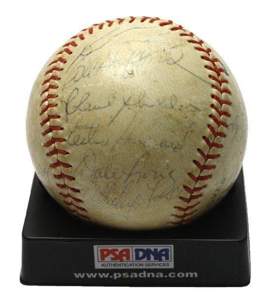 1962 WORLD SERIES CHAMPIONS NY YANKEES SIGNED BALL