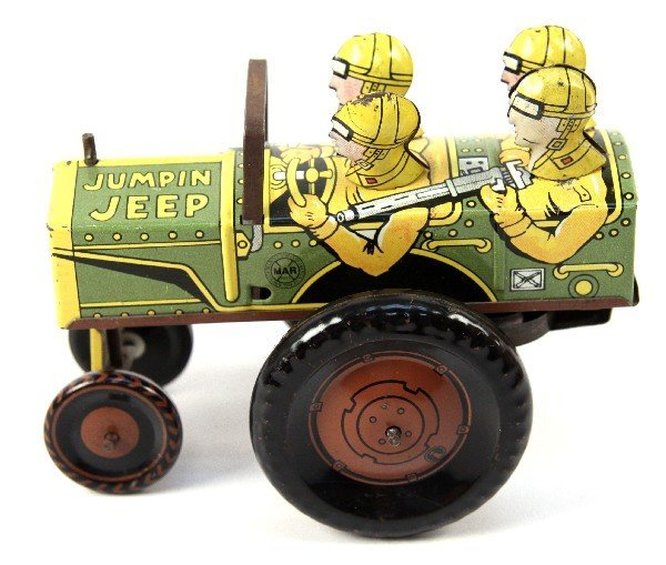 ANTIQUE TOY MARX 1947 JUMPIN JEEP EXC CONDITION
