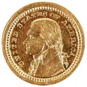 GOLD LOUISIANA PURCHASE 1903 COMMEMORATIVE COIN