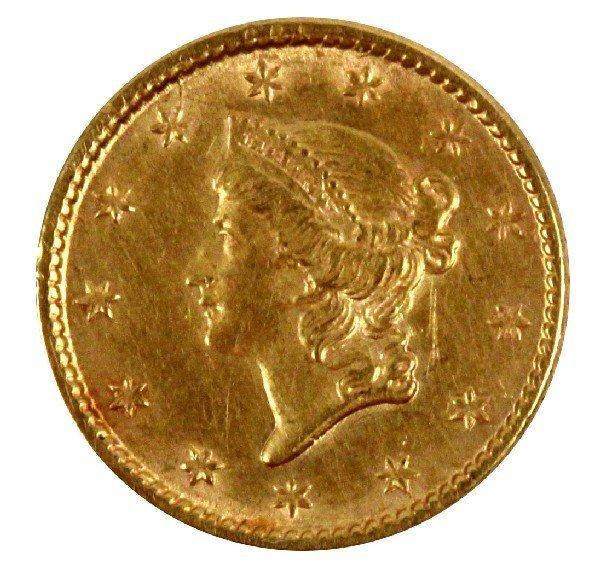 1853 LIBERTY GOLD DOLLAR XF