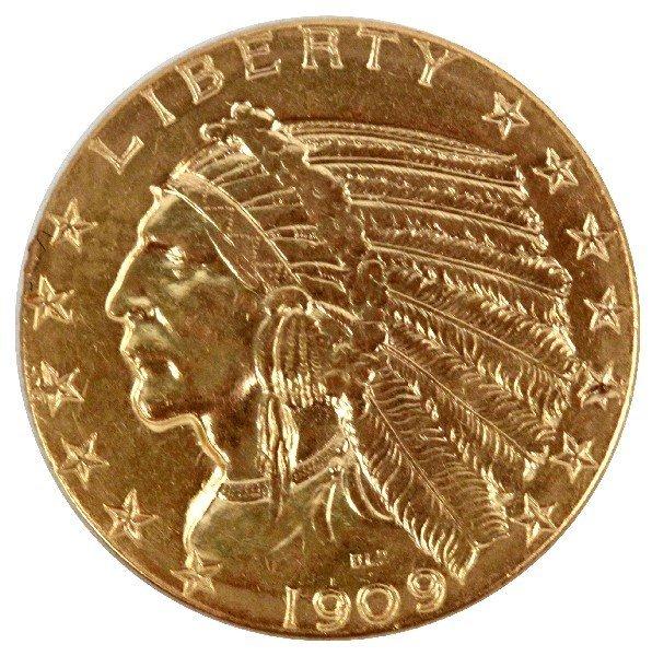 GOLD $5.00 INDIAN HALF EAGLE