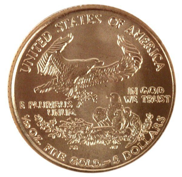 2006 NGC $5 1/10 OZ GOLD EAGLE FIRST STRIKE COIN - 2