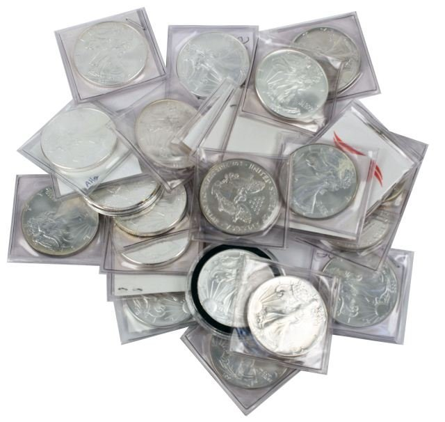 1986- 2010 SET OF SILVER AMERICAN EAGLES 25 COINS