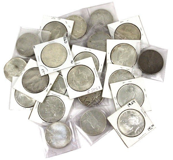 FULL SET ALL DATES & MINTS SILVER PEACE DOLLAR LOT