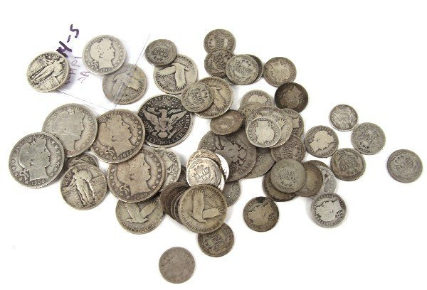 BARBER STANDING TYPE SILVER LOT BETTER DATES $10+