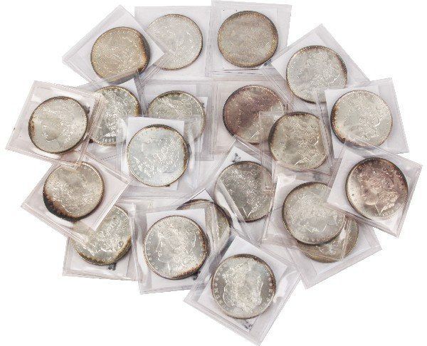 20 MIX DATE MINT STATE MORGAN SILVER DOLLARS
