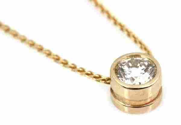 LADIES 14K YELLOW GOLD & 1 CT DIAMOND PENDANT