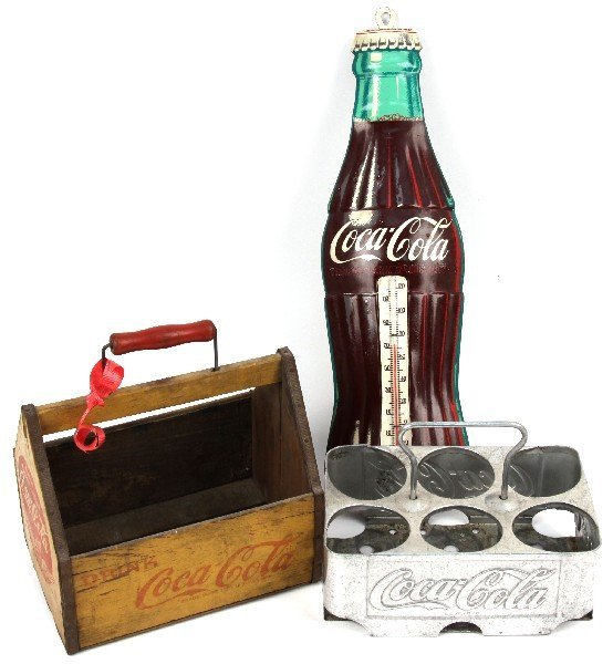 1941 COCA COLA 6 PACK & ROBERTSON THERMOMETER