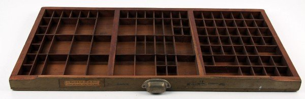 WOODEN PRINTERS CABINET DRAWER