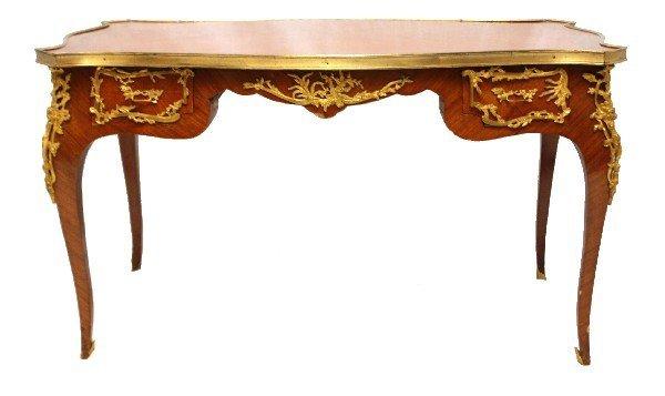 LOUIS XV STYLE ORMOLU MOUNTED INLAID COFFEE TABLE
