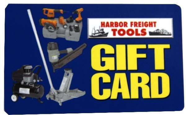 HARBOR FREIGHT TOOLS GIFT CARD $137