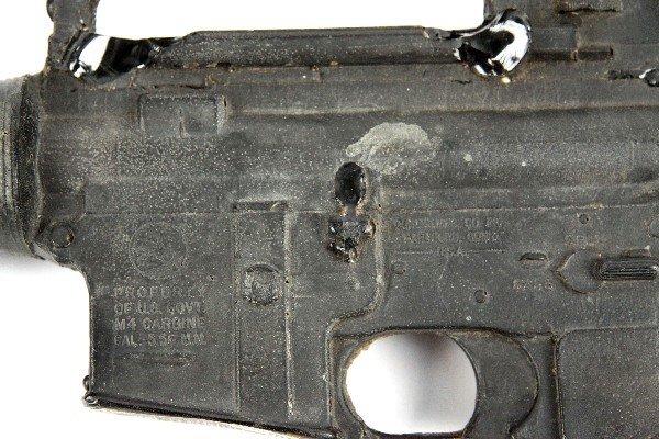 CAST RESIN M16 DUMMY RIFLE & REPRO SABER - 3