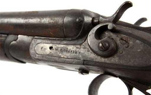 Antique W Richards Side By Side Shotgun
