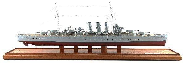 MODEL OF HMS DORSETSHIRE BY JOHN FICKLEN III