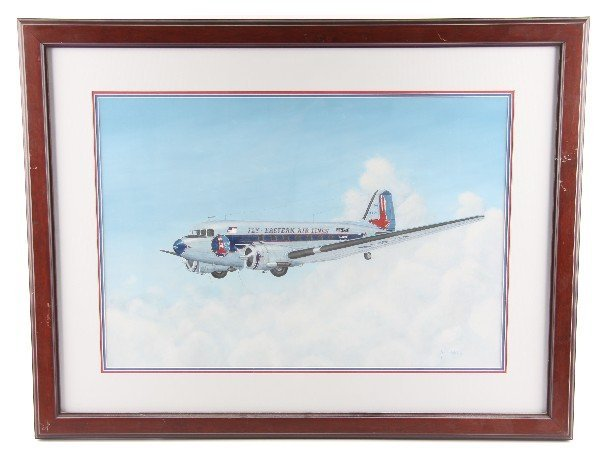 JOHN FICKLEN EARLY EASTERN AIRLINES DC-3 PAINTING
