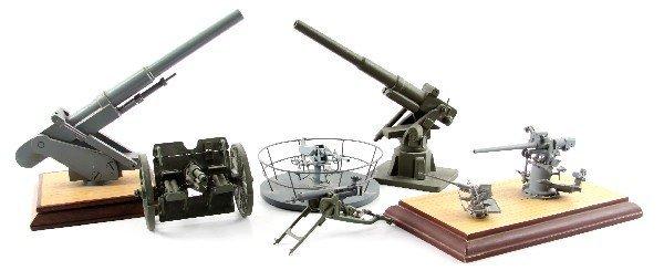 7 ASSORTED GUN MODELS ANTI-AIRCRAFT ARTILLERY