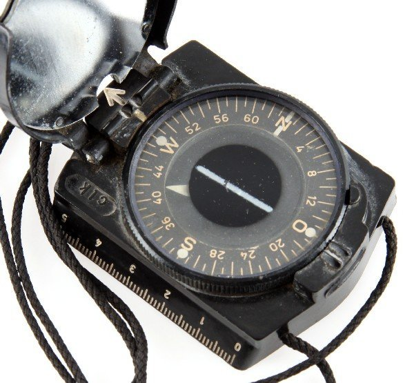 WWII GERMAN BREITHAUPT MARCHING COMPASS - 2