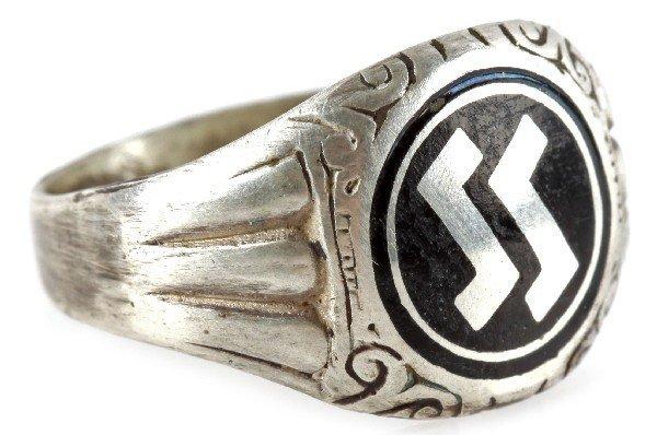 GERMAN THIRD REICH SS AHNENERBE SILVER RING