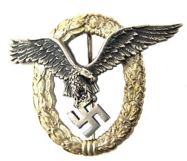 GERMAN WWII NAZI LUFTWAFFE PILOT'S BADGE