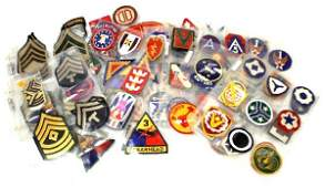 OVER 180 WWII TO VIETNAM MILITARY PATCH COLLECTION