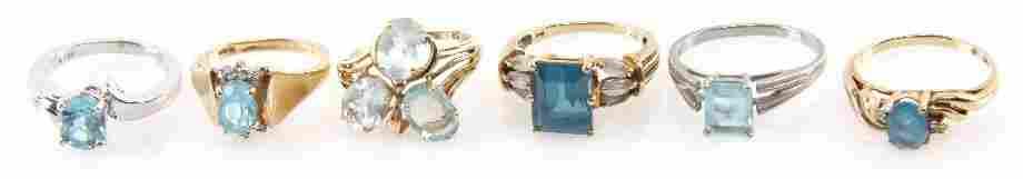 2402: DEALERS LOT OF LADIES GOLD GEMSTONE ESTATE RINGS
