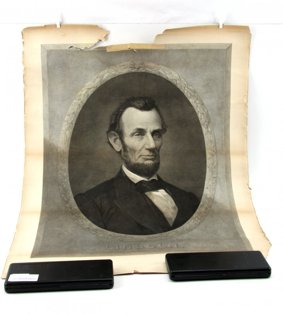 J.H. LITTLEFIELD 1869 ENGRAVING OF ABRAHAM LINCOLN