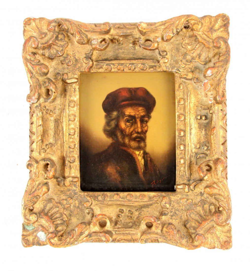PORTRAIT OF AN OLD MAN IN GOLD FRAME
