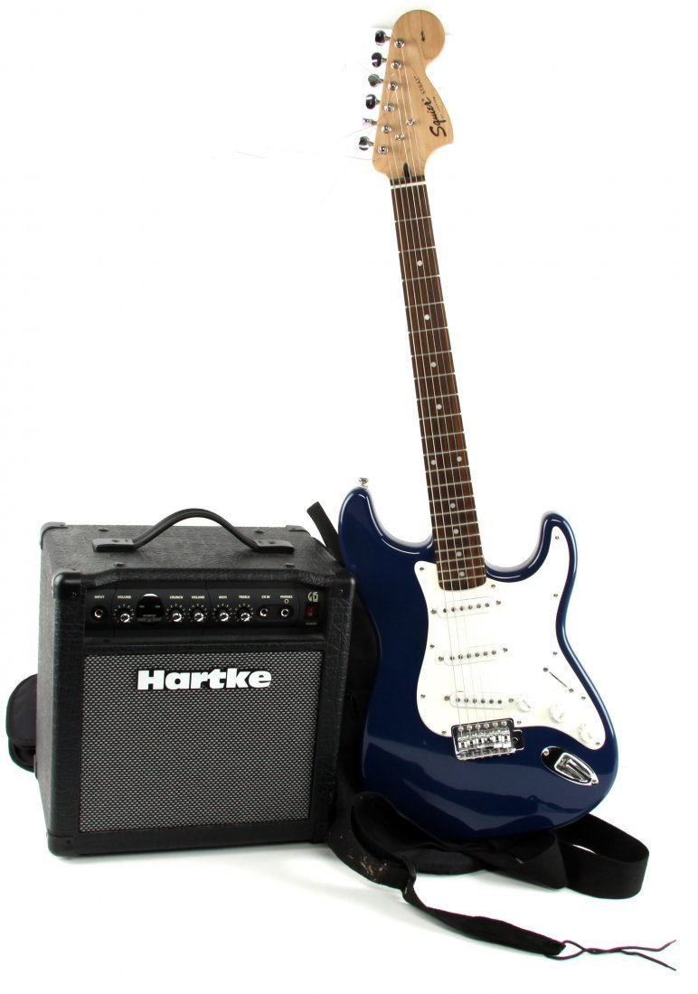 FENDER SQUIRE STRAT WITH HARTKE AMP