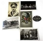 LOT WWII GERMAN MEMORABELIA POSTCARDS  DOG TAG