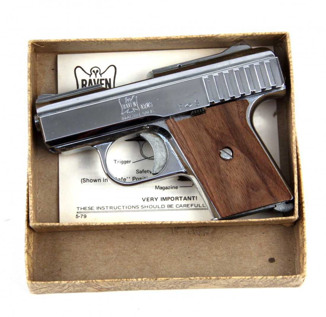 RAVEN P-25 SEMI AUTOMATIC PISTOL NICKEL PLATE