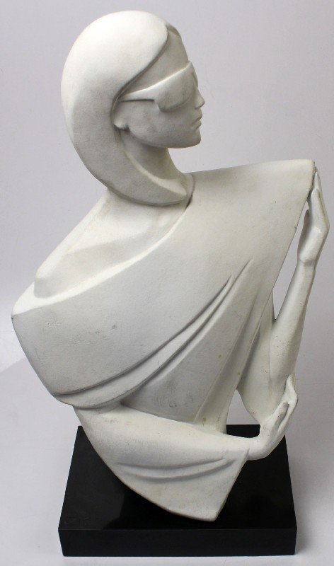 DAVID FURLOUGH SCULPTURE OF A WOMAN 1987