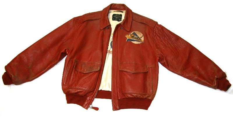50TH ANNIVERSARY FLYING TIGERS LEATHER JACKET L