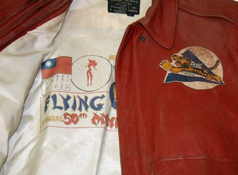50TH ANNIVERSARY FLYING TIGERS LEATHER JACKET L - 2