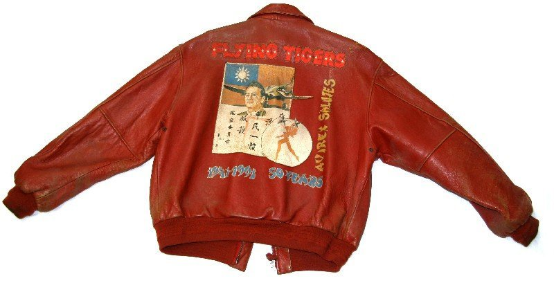 50TH ANNIVERSARY FLYING TIGERS LEATHER JACKET L - 3