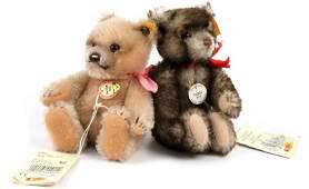 TWO STEIFF TEDDY BEARS WITH TAGS