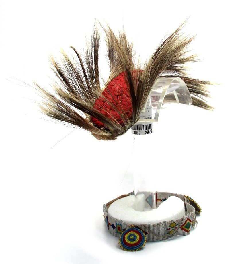 NATIVE AMERICAN ROACH HORSE HAIR HEADDRESS