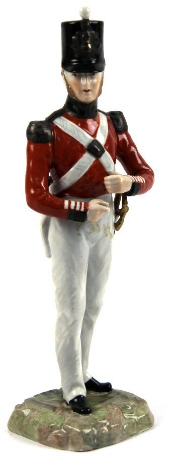 ANTIQUE DRESDEN PORCELAIN FIGURINE ROYAL ARTILLERY