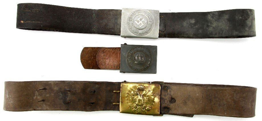 WWI WWII GERMAN AUSTRIAN THIRD REICH BELT & BUCKLE