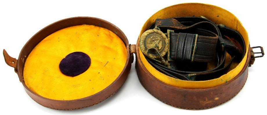 SPANISH AMERICAN USN OFFICER'S SWORD BELT WITH BOX