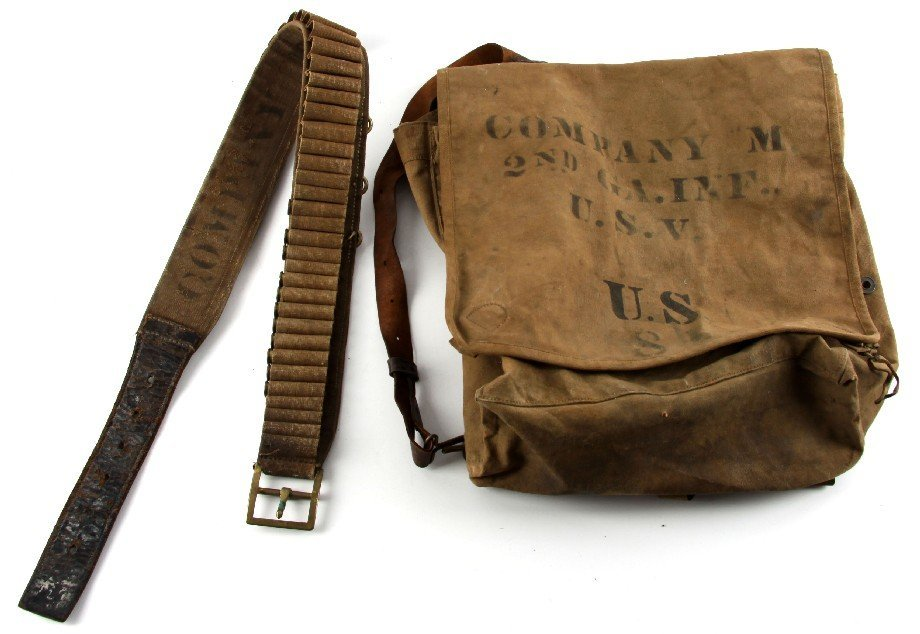 SPANISH AMERICAN WAR BELT & BACKPACK