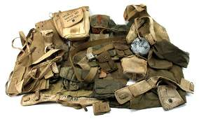 US MILITARY WEB GEAR FROM WWII AND KOREA-ERA