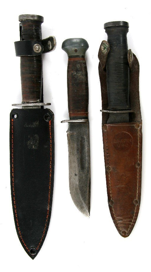 WWII COLLECTION OF FIGHTING KNIVES PAL KINFOLK