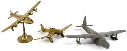 THREE WWII TRENCH ART ID MODELS SUNDERLAND & STUKA