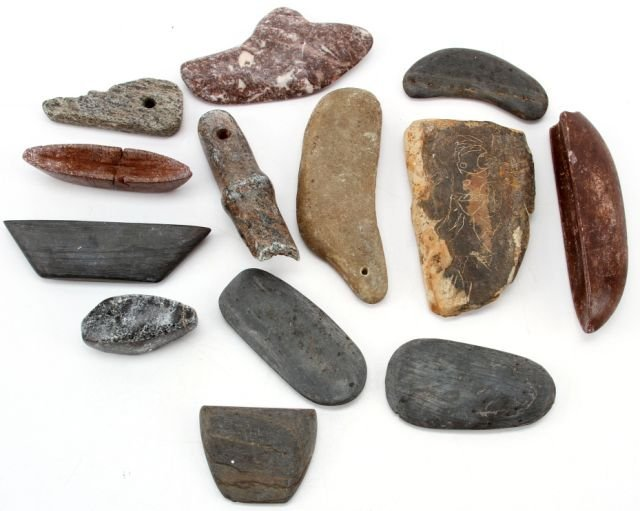 13 NATIVE AMERICAN STONE ARTIFACTS